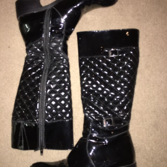 Italian Patent Leather Boots