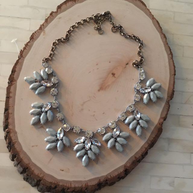 J Crew Grey Sparkle Necklace