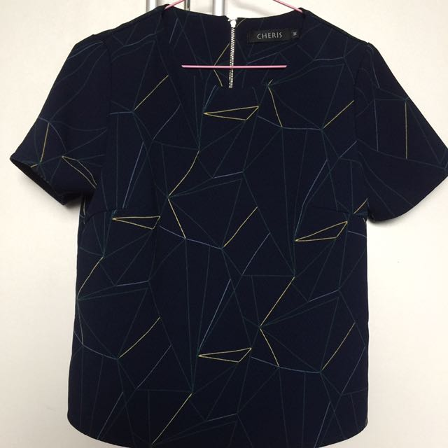 Korean Top (Navy Blue)