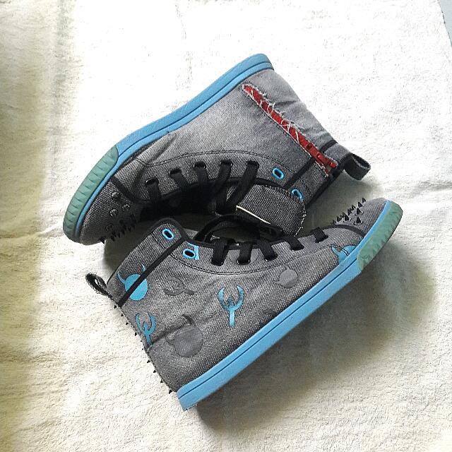 [FREE ONGKIR] KRUZIN Crazy Horse Space Black Shoes