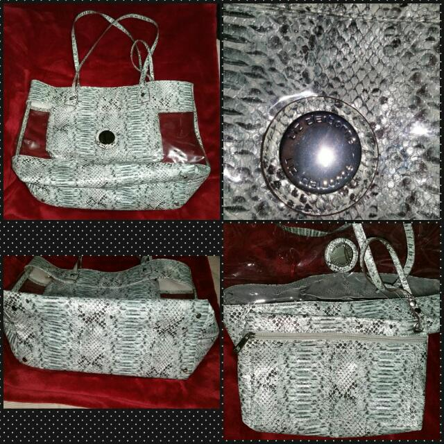Liz Clairborne Clear Snake Skin With Pouch