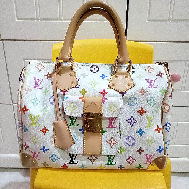 LV Monogram Multicolore Speedy 30 KW Super premium Mirror
