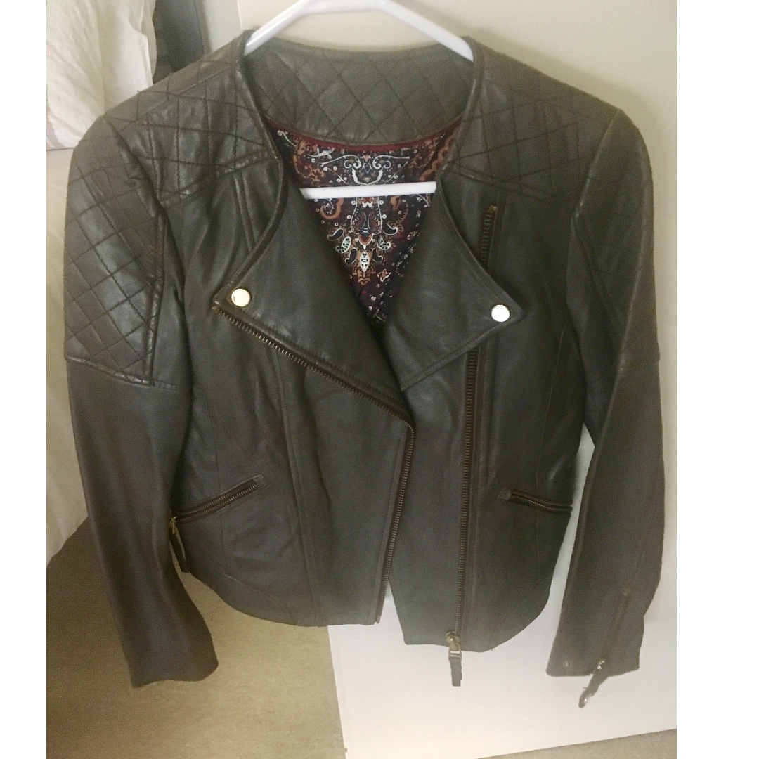 Massimo Dutti Leather Jacket
