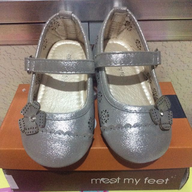 Meet My Feet Silver Shoes