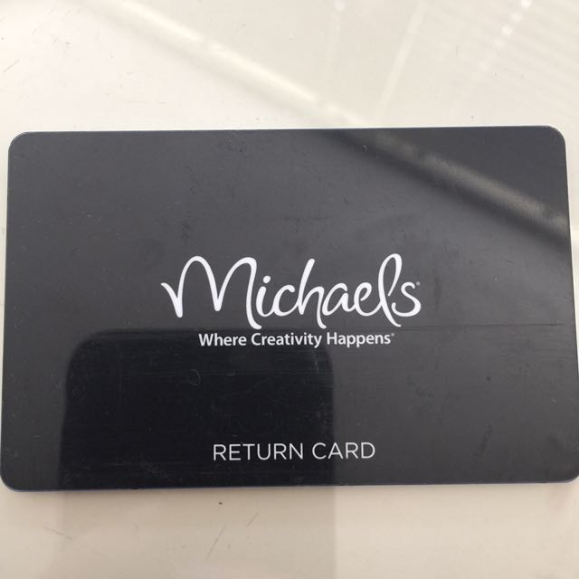 Michaels Card Has $35.21