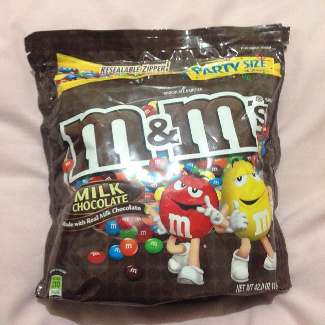 m&m's chocolate party size resealable bag