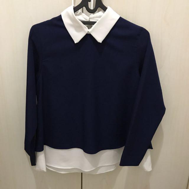 Navy Long Sleeves Shirt