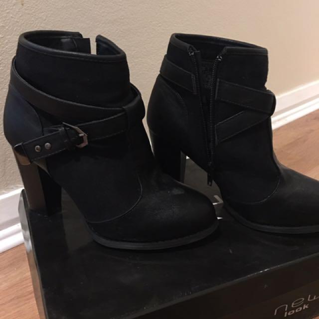 New Look Black Heel Boots