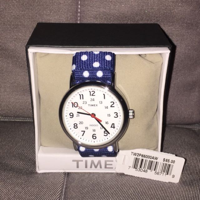 New round silver Timex wristwatch