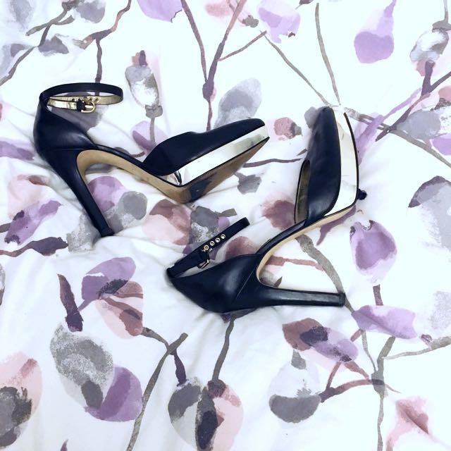 Nine West Metallic Plated Heels