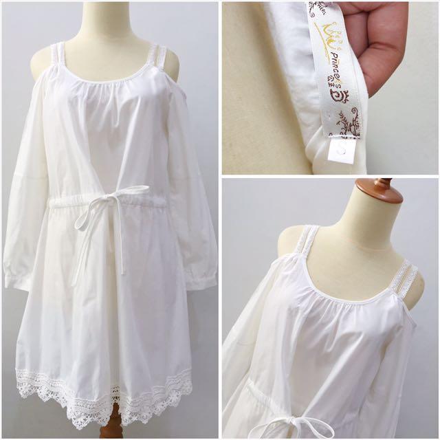 Off Shoulder White Dress