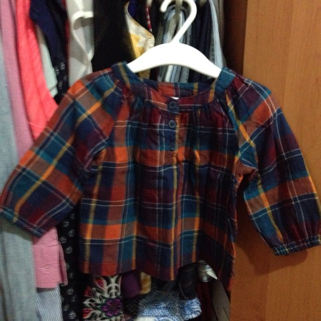 Old Navy Checkered Blouse