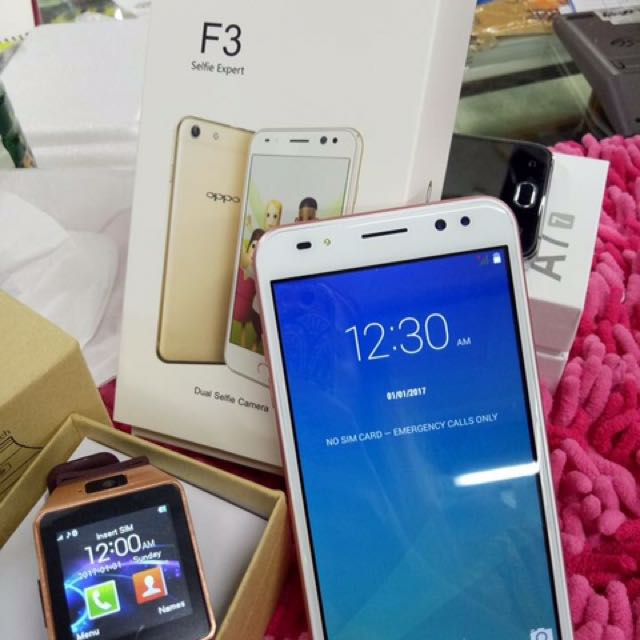 Oppo f3 With Free Smart Watch