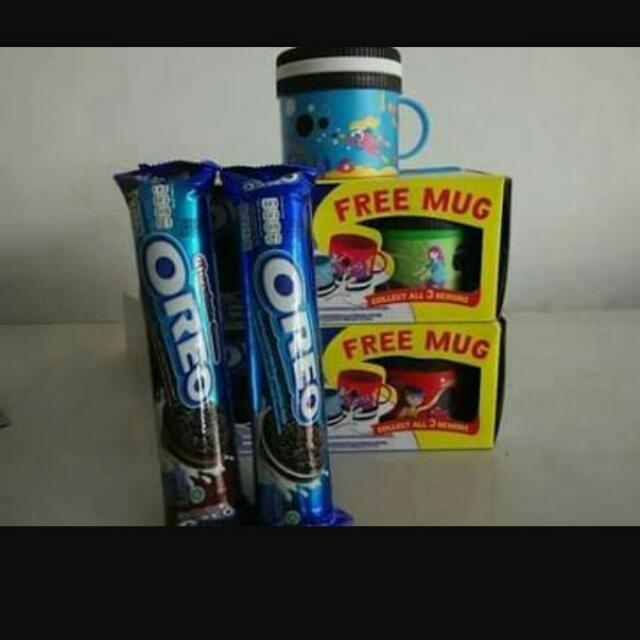 Oreo 2pcs Free Mug Lucu