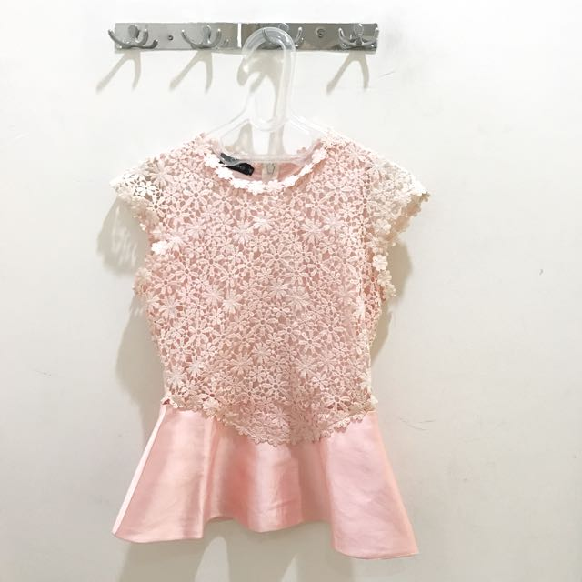 Pink Brokat Top