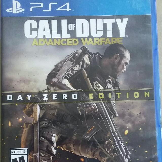 Ps4 Game Call Of Duty Advanced warfare Day Zero Edition