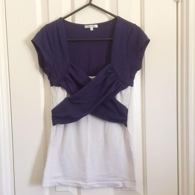 Purple And White Shirt