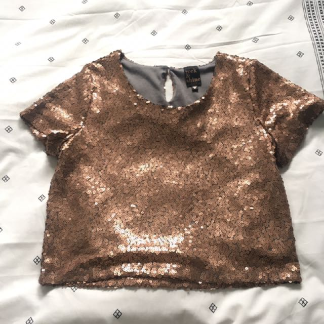 Rose Gold Sequinned Tshirt
