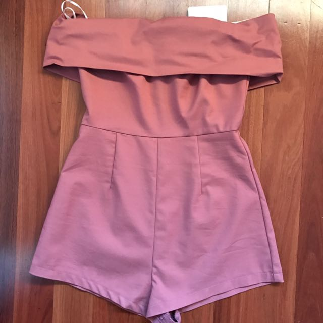SALMON/PINK PLAYSUIT
