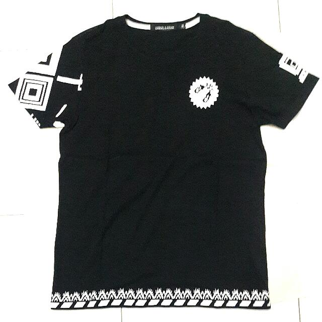 SAMUEL&KEVIN Black Printed T-Shirt