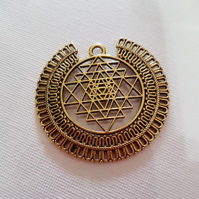 Sri yantra pendant king of sacred geometry everything else on photo photo photo photo aloadofball Image collections