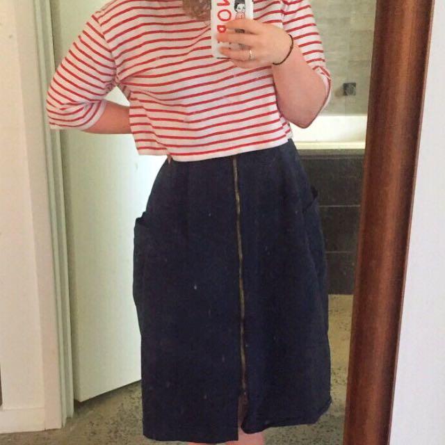 Striped Crop Tshirt
