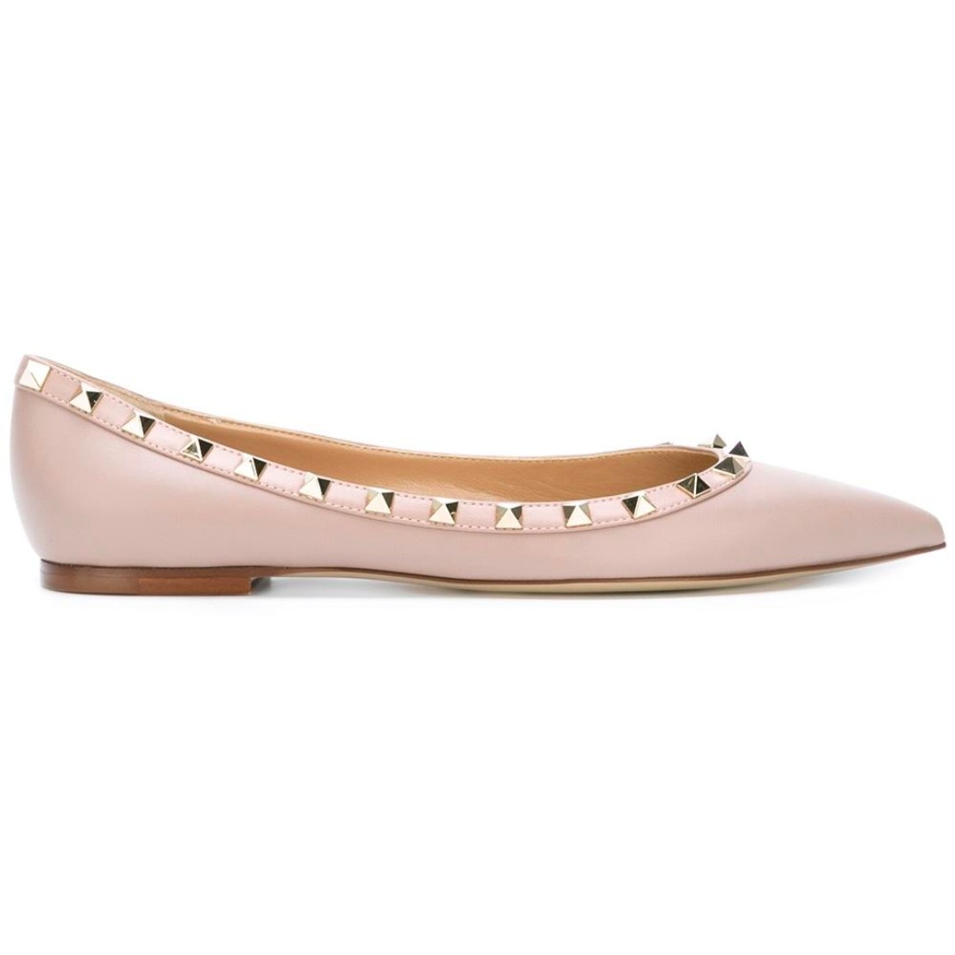 "Valentino Rockstud Ballet Flats size 35 in ""Poudre""/nude"