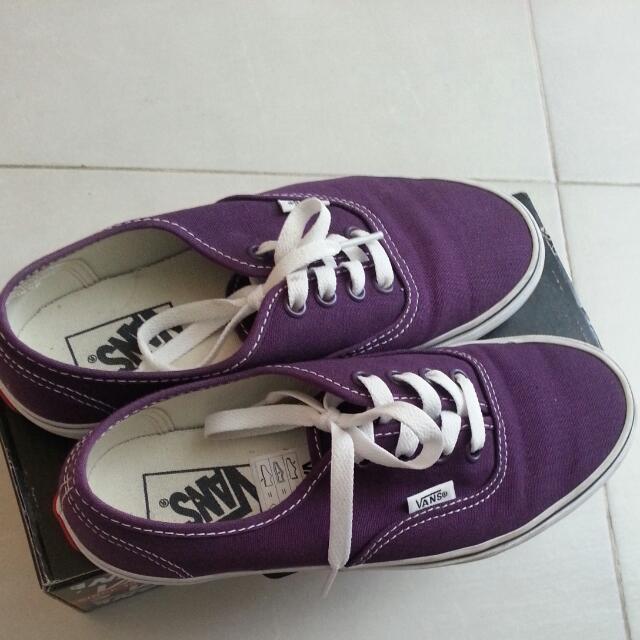 069444166f8e Vans Plum Purple true White Authentic Vans Shoe