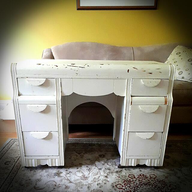 Antique Cream Desk
