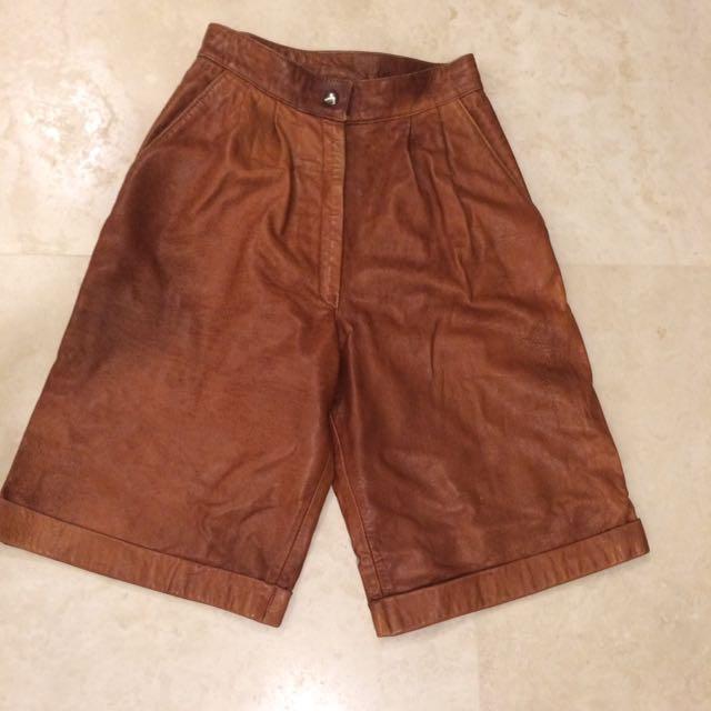 Vintage Genuine Leather Shorts