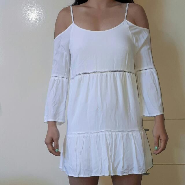 White Dotti Dress
