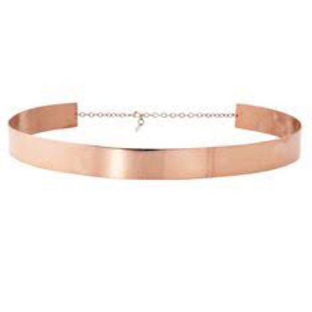 White Suede Rose Gold Belt