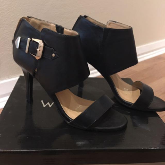 Wildefire Black Heels With Buckle 6.5