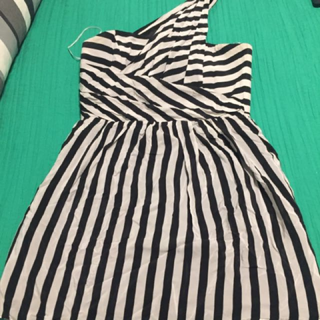 Wish Black And White Cocktail Dress