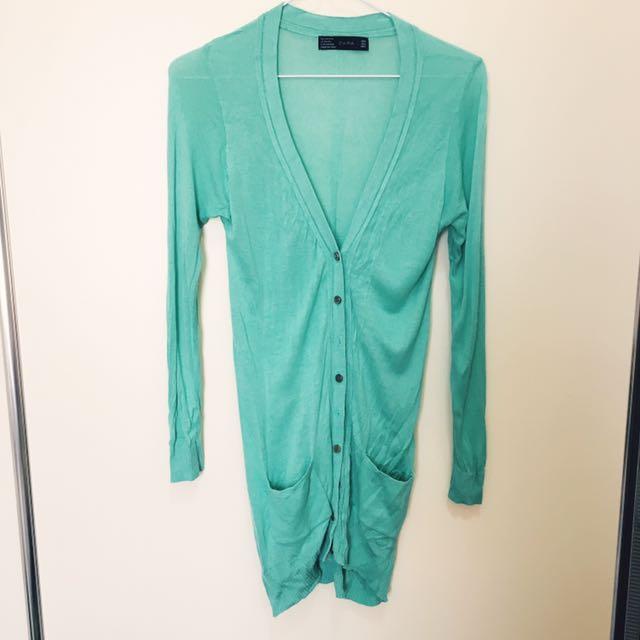 Zara Mint Cardigan Size S