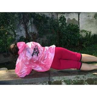 Jaket Sauna Cowo Cewe Pink (Baru)