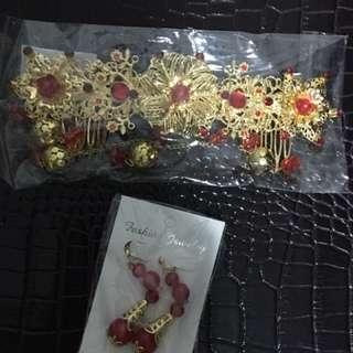 Oriental Hair Accessories & Earrings