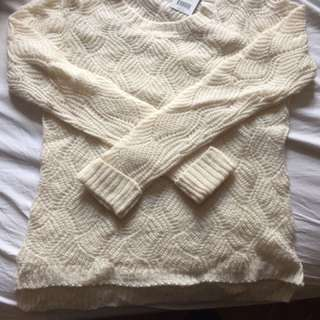 NEW Off-White Knit Sweater