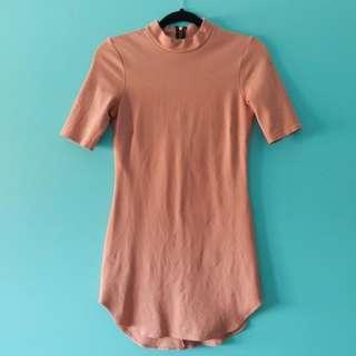 REDUCED:BODYCON BLUSH DRESS