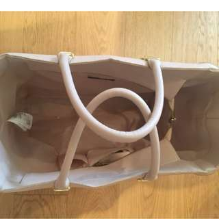 H&M Pink Leather Tote / Weekend Bag