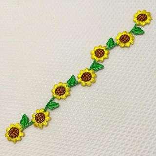 Iron On & Stick On Trim/ Applique   ↪ 6 Inch Sunflower 🌻🌻  💱 $3.50 Each Strip