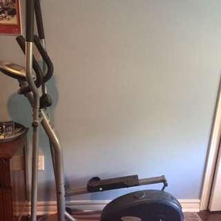 black and grey elliptical trainer