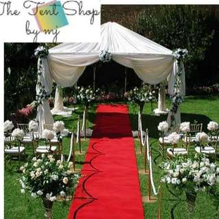 RED CARPET FOR WEDDING CEREMONIES & Customized White Tent