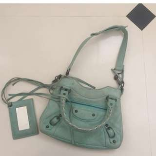 Balenciaga Small City Bag minty green