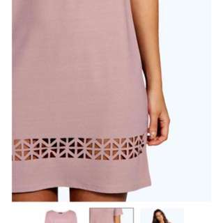 Laser Cut Dress From Boohoo