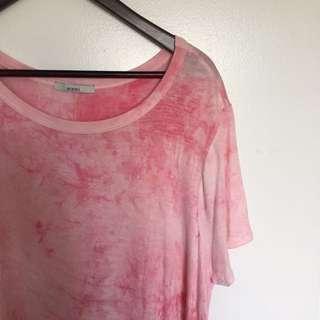Pink Tie Die Summer Dress