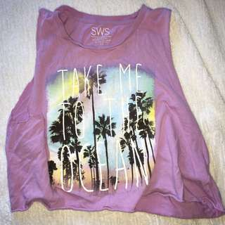 SMALL CROPPED MUSCLE TEE