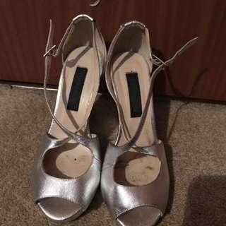 Novo Silver Wedges Size 38