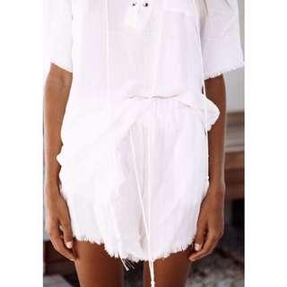 Sabo Skirt Castaway Shorts White