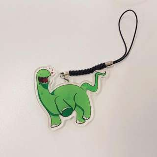 Dancing Dinosaur Charm With Keychain Or Strap